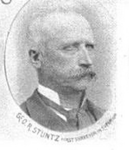Portrait of George Riley Stuntz, The Eye of the North-west: First Annual Report of the Statistician of Superior, Wisconsin, by Frank Abial Flower, 1890, page 26.