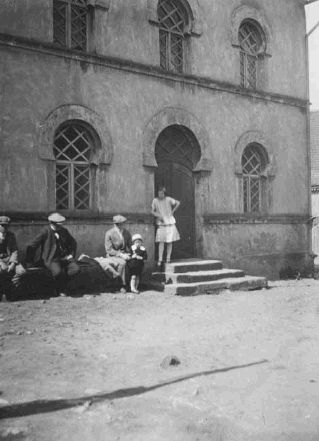 """Sitting in front of the synagogue in Wittelshofen."" ~ US Holocaust Memorial Museum, 25821."